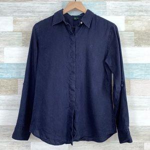 LRL Ralph Lauren Linen Shirt Blue